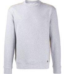 versace collection active crew neck sweatshirt - grey