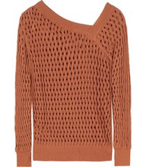 pinko los roques openwork-knit pullover