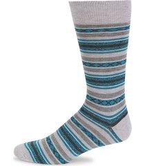 two-tone striped cotton-blend socks