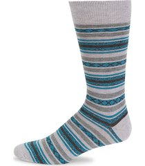 two-tone striped cotton-blend socks