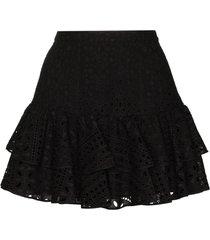 charo ruiz perforated cotton natalie skirt