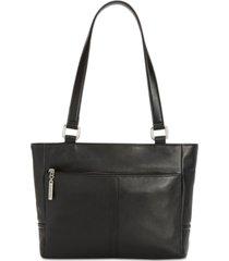giani bernini nappa classic leather tote, created for macy's