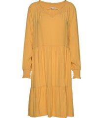 move ls dress jurk knielengte geel soft rebels