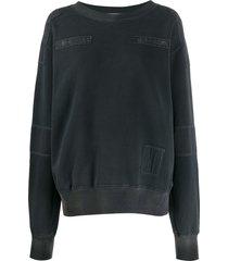 ambush patchwork sweatshirt - black