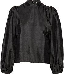 harriet blouse 11244 blouse lange mouwen zwart samsøe & samsøe