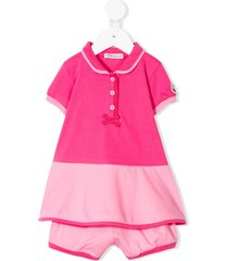 moncler enfant dress and shorts set - pink