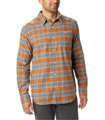 columbia men's cornell woods regular-fit stretch plaid flannel shirt