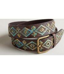 sundance catalog women's verdigris belt in espresso xs