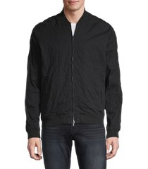 john varvatos star u.s.a. men's embellished cotton-blend bomber jacket - black - size s