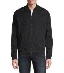 john varvatos star u.s.a. men's embellished cotton-blend bomber jacket - black - size xl