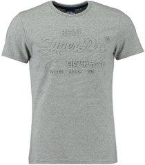 t-shirt emboss grijs
