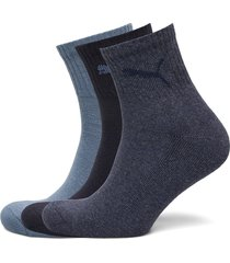 puma short crew 3p unisex underwear socks regular socks blå puma