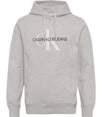 monogram regular hoo hoodie grå calvin klein jeans