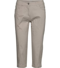 capri pants byxa med raka ben grå brandtex