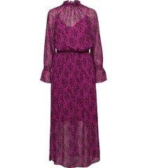 d2. fall flower crinkle dress maxiklänning festklänning lila gant
