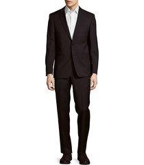 classic-fit woolen notch lapel suit