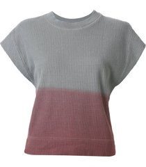 bassike wide tapered waffle tank - grey