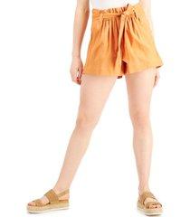 indigo rein juniors' belted paperbag shorts