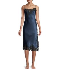 night lace-trim silk-blend slip dress