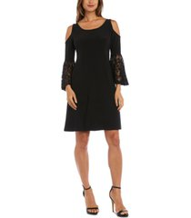 r & m richards cold-shoulder sheath dress