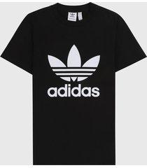 camiseta negro-blanco adidas originals adicolor classics trefoil