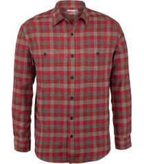 wolverine legend long sleeve flannel shirt dark brick plaid, size xxl
