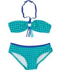zee & zo zee & zo /groene bandeau bikini maladiven blauw