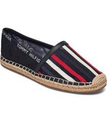 th mesh espadrille sandaletter expadrilles låga svart tommy hilfiger