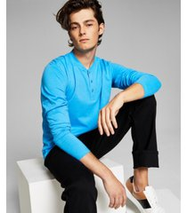 and now this men's long sleeve henley t-shirt