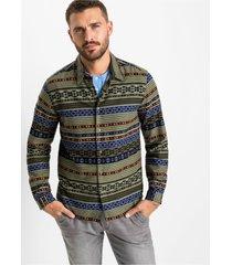 flanellen overhemd slim fit, extra warm