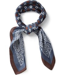 mens dark multi navy print bandana*