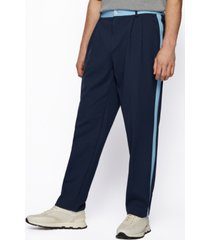 boss x russell athletic men's tapered-fit trousers