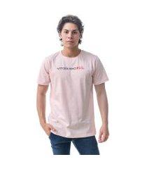 camiseta vitoriano basic - rosa claro