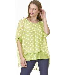 blusa lunares verde bous