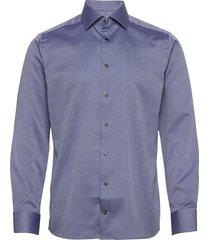 slim fit arrow weave shirt overhemd business blauw eton