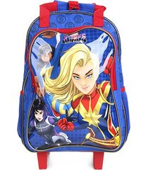 mochila escolar infantil dmw com rodinhas rising secret warriors masculina