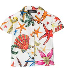 young versace multicolor print shirt