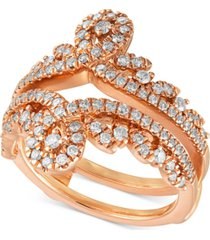 diamond swirled tiara enhancer ring (3/4 ct. t.w.) in 14k rose gold