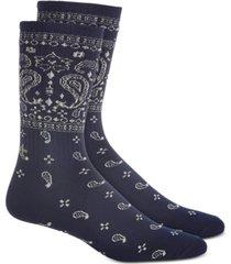 sun + stone men's navy bandana socks