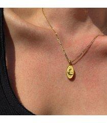 hermina athens women's sky pendant thin chain - gold