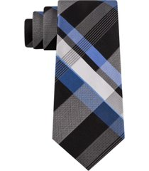 kenneth cole reaction men's classic block plaid tie
