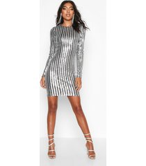 tall all over sequin mini dress, silver