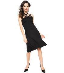 vestido anna field negro - calce ajustado