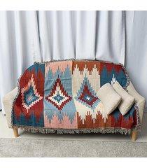100% algodón de bohemia boho tiro alfombra sofá sofá del salón silla manta hoja de cama 3yue # 125 * 150 - 150 x 210