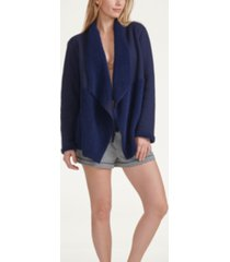 splendid women's faux sherpa line lounge cardigan, online only