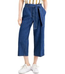 bar iii cotton culotte pants, created for macy's