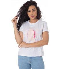 camiseta agradecer thiago brado 6027000007 branco - branco - pp - feminino