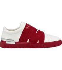lage sneakers ed hardy - stretch low top white/red
