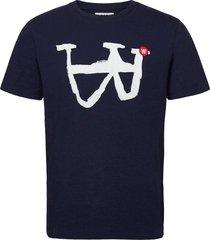 ace t-shirt t-shirts short-sleeved blauw wood wood