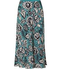 women's sams?e sams?e alsop midi skirt, size large - blue/green